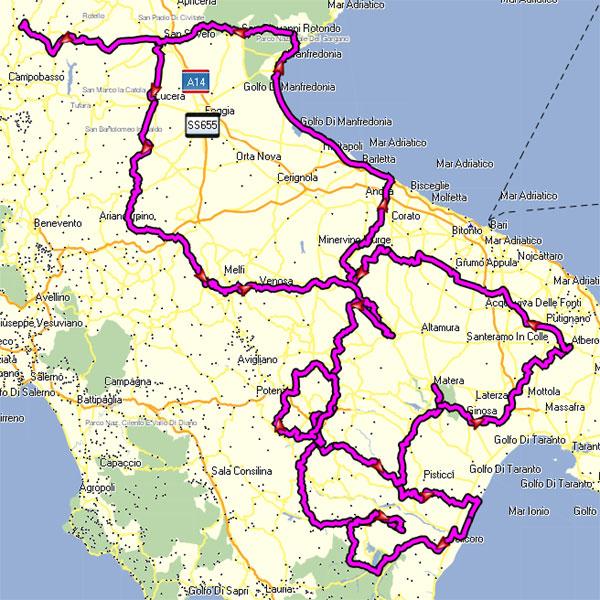 Mappa Puglia E Basilicata.I Viaggi Di Taddy E Gloria I Nostri Viaggi Puglia Basilicata Enduro